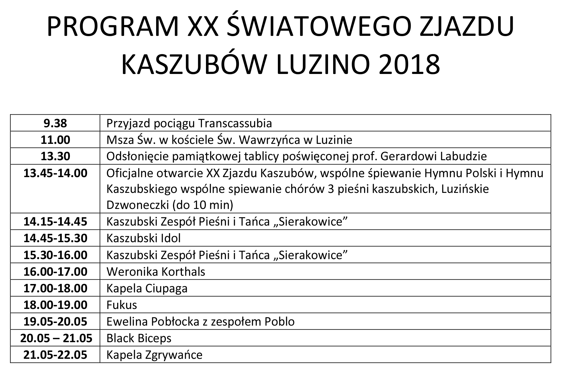 program XX ZJAZD